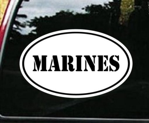 Marines Oval Decal Sticker