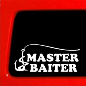 Master Baiter II Funny Fishing Decals