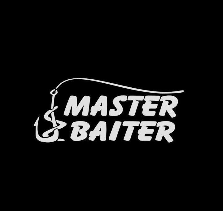 Master baiter fishing vinyl decal stickers for Fishing stickers and decals