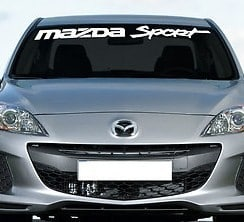 Mazda Sport Windshield Decal - https://customstickershop.us/product-category/windshield-decals/