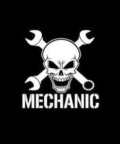 Mechanic Skull Window Decal