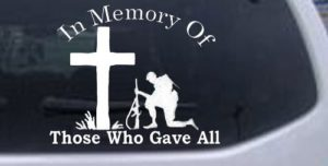 Those who gave all decal sticker