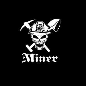 Miner Skull Window Decal