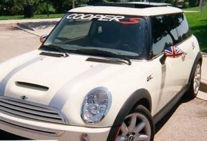 Mini Cooper S Windshield Decal - https://customstickershop.us/product-category/windshield-decals/