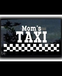 Moms Taxi Car Window Decal