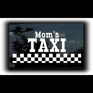 Moms Taxi Car Window Decal