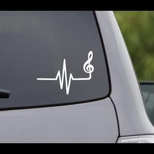 Music Heartbeat Car Window Decal
