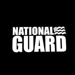 National Guard Car Window Decal