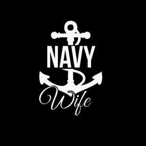 Navy Wife Anchor Window Decal