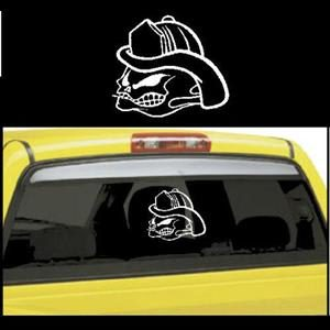 No Fear Skull Truck Window Decals - https://customstickershop.us/product-category/truck-decals/