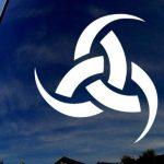 Odin Triple Horn Window Decal Sticker