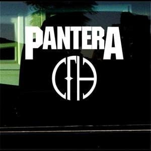 Pantera Music Window Decal