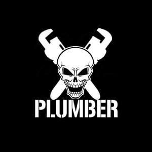 Plumber skull Window Decal