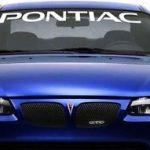 Pontiac Windshield Decals