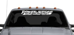 Power Stroke Diesel Windshield Decal - https://customstickershop.us/product-category/windshield-decals/