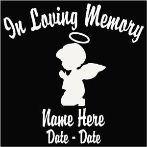 loving Memory Decal Child Angel