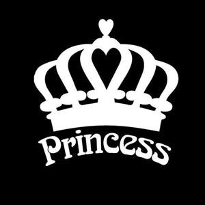 Princess Crown Car Window Decal