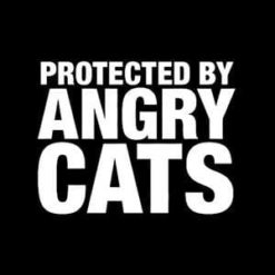 Protected By Angry Cats Decal