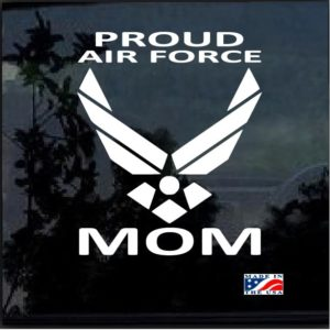 proud air force mom window decal sticker