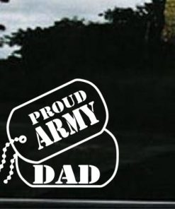 Army Dad Dog Tags Decal Sticker