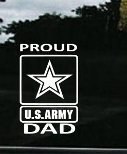 Proud Army Dad Decal Sticker
