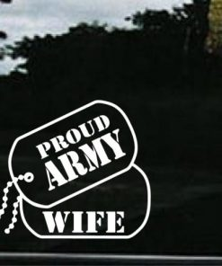Army Wife Dog Tags Decal Sticker