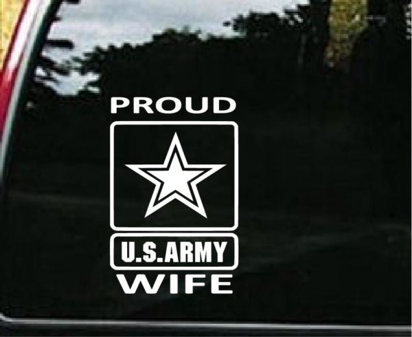 Navy Army Wife Car Sticker Customization available! Proud Military Wife Car Decal LOTS of Colors