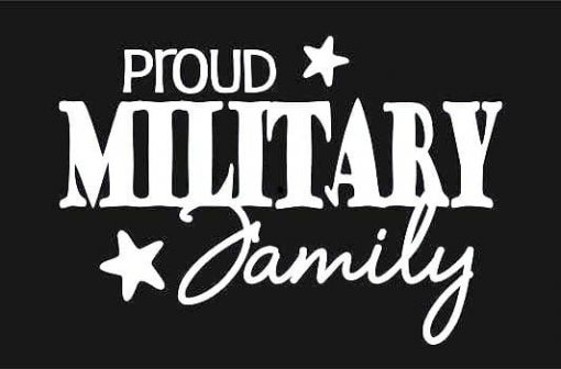 Proud Military Family Decal Sticker