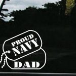 Navy Dad Dog Tags Military Window Decal Stickers