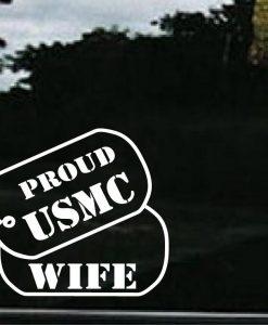 USMC Wife Dog Tags Decal Sticker