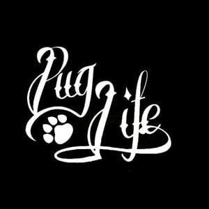 Pug Life Car Window Decal