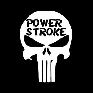 Power Stroke Punisher Truck Decal