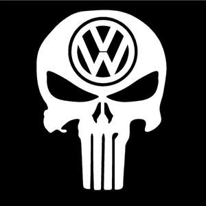 Punisher VW Volkswagen Decals - https://customstickershop.us/product-category/stickers-for-cars/