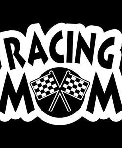 Racing Mom Car Window Decal