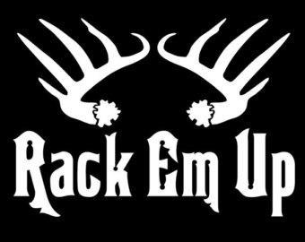 Rack Em Up Deer Hunting Decals