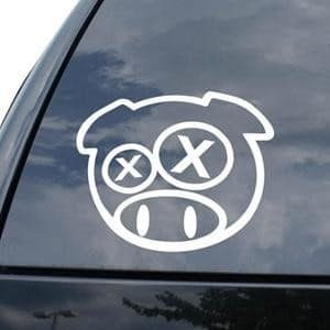 Rally Pig Drunk JDM Window Decal - https://customstickershop.us/product-category/jdm-stickers/
