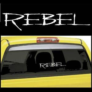 Rebel Truck Window Decals - https://customstickershop.us/product-category/truck-decals/