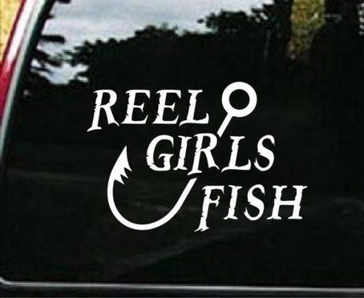 Reel Girls Fish Funny Fishing Decals