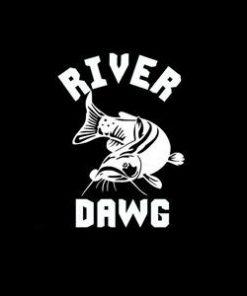 River Dawg Fishing Window Decal