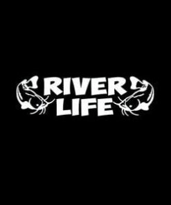River Life Fishing Window Decal a2