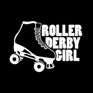Roller Derby Girl Car Window Decal
