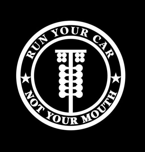 Run your Car Not Your Mouth Decal - https://customstickershop.us/product-category/jdm-stickers/