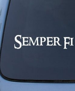 Semper Fi Military Decal Sticker