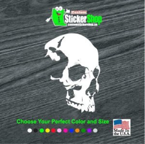 shadow skull window decal sticker 1