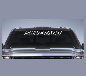 Chevy Silverado III Windshield Decal - https://customstickershop.us/product-category/windshield-decals/