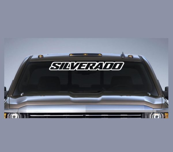 Vinyl Windshield Banner Decal Stickers Fits Chevy Silverado III - Chevy silverado stickers