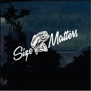 size matters fishing decal