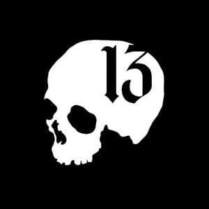 Skull Number 13 Window Decal