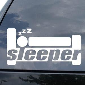 Sleeper Funny JDM Window Decal - https://customstickershop.us/product-category/jdm-stickers/