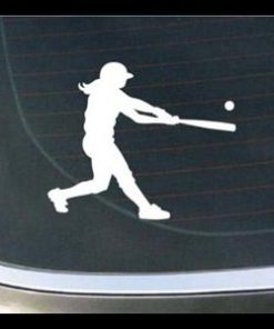 Softball Batter Car Window Decal